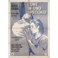 Through a Glass Darkly 1962 Italian Due Fogli Film Poster