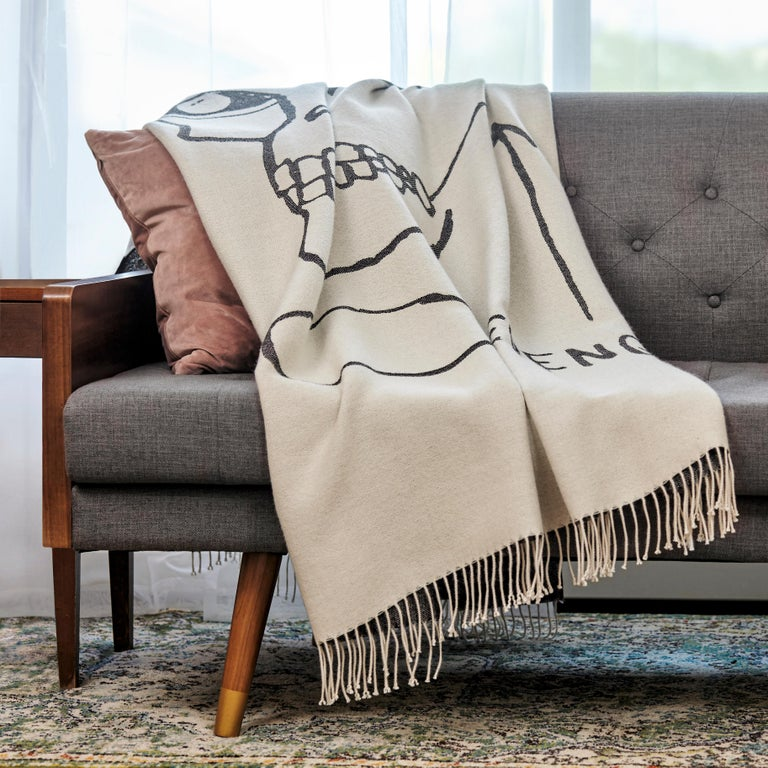 Evil Thoughts (1982) 100% Peruvian baby alpaca reversible throw Measures: 50 x 72 inches with 3