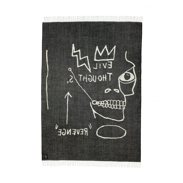 Hand-Woven Throw / Blanket by Jean-Michel Basquiat For Sale