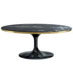 Thunder Oval Coffee Table with Resin Marble Top