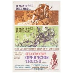 Thunderball 1965 Argentine Film Poster