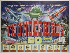 Thunderbirds Are Go! British UK Film Poster, 1966