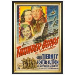 Thunderbirds World War II Vintage Aviation Movie Poster, circa 1942