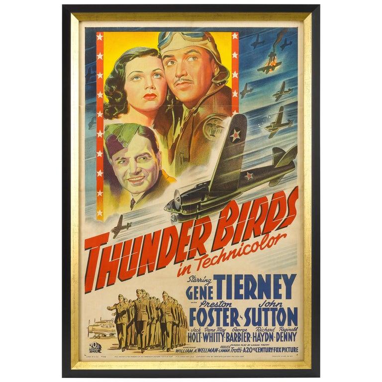 Thunderbirds World War II Vintage Aviation Movie Poster, circa 1942 For Sale