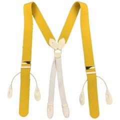 THURSTON LONDON Solid Yellow Wool Suspenders