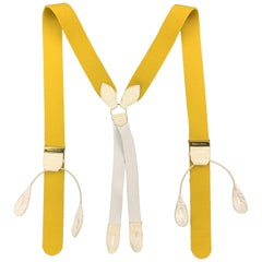 THURSTON LONDON Solid Yellow Wool Suspenders