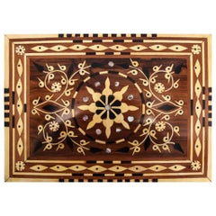 Moroccan Jewelry Box Handmade of Thuya Wood