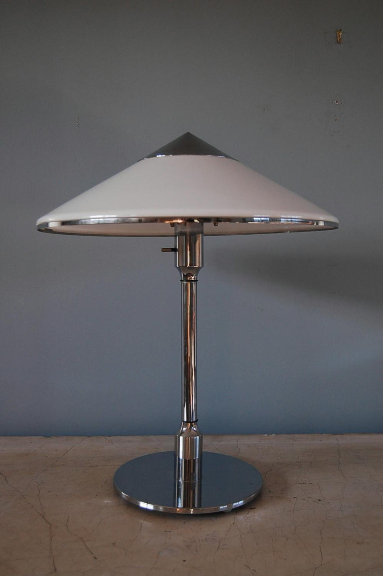 Niels Rasmussen Thykier, Table Light, Origin: Denmark, Circa 1940 In Excellent Condition For Sale In New York, NY