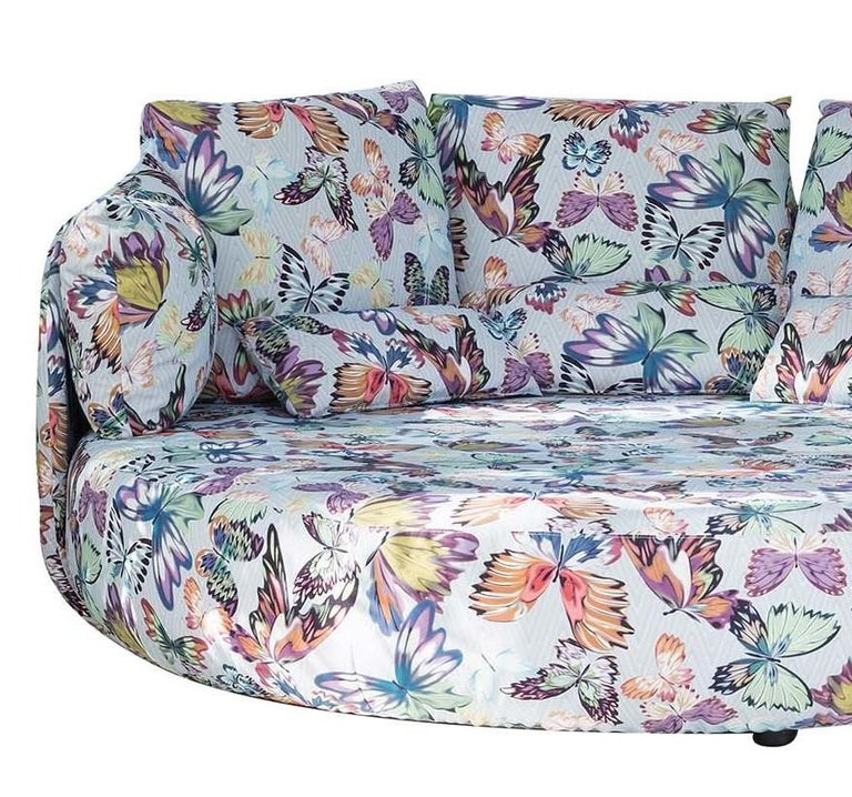 Modern Tiamat New White Butterflies Sofa by MissoniHome For Sale