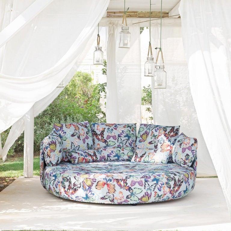 Italian Tiamat New White Butterflies Sofa by MissoniHome For Sale