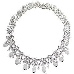 Tiara Crown Diamond Necklace