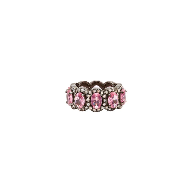 Pink Morganite And Diamond Tiara Ring For Sale At 1stdibs