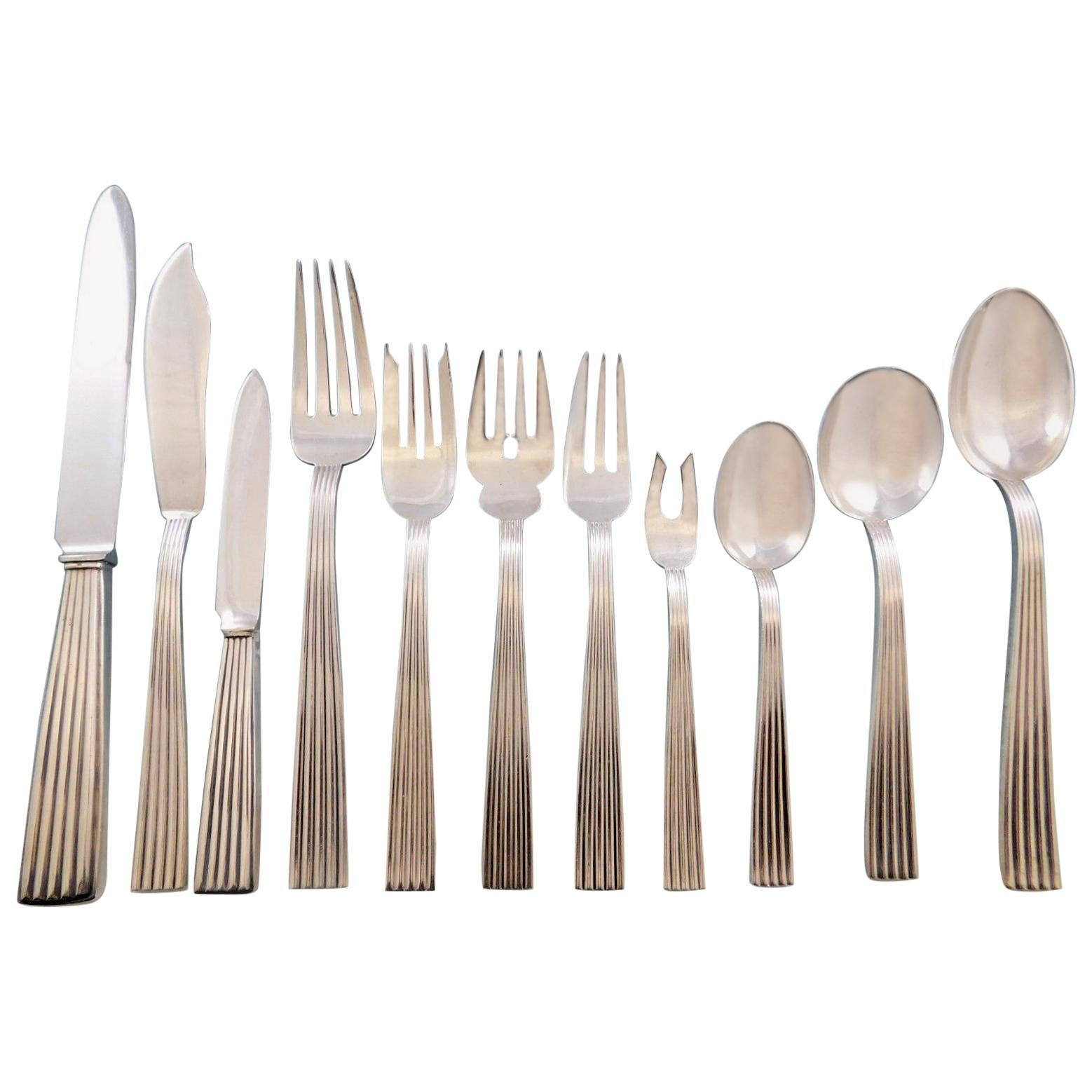 """Torchon by Buccellati Italy Italian Sterling Silver Dessert Fork 4-Tine 7/"""""""
