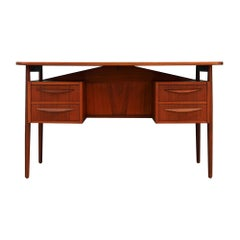 Tibergaard Teak Writing Desk Vintage, 1970s