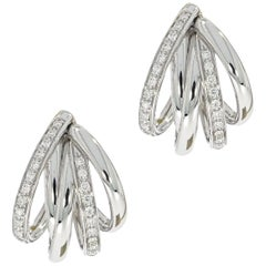 Tibet Diamond White Gold Earrings by Mattioli