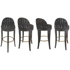 Tibet Swivel Bar Stools by Kravet Furniture, Four Available
