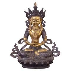 Tibetan 20th Century Bronze Statue of Tara