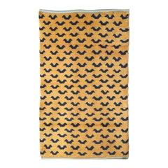 Tibetan Abstract Tiger Pattern Rug, circa 1950
