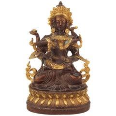 Tibetan Buddhist Erotic Bronze of Vajrasattva and His Consort