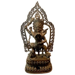 Tibetan Cast Bronze Statue of Yamantaka