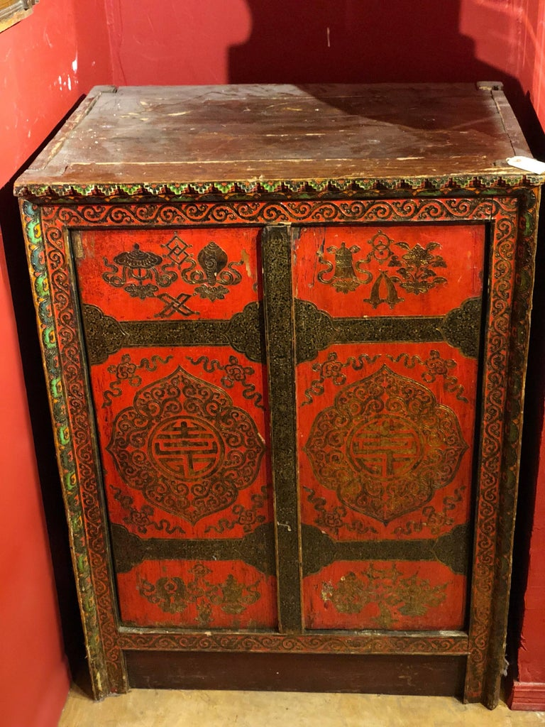 Tibetan Chest Cabinet For Sale At 1stdibs