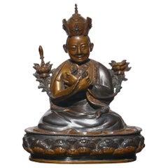 Tibetan Copper Bronze Lama Buddha
