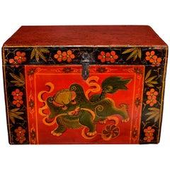 Tibetan Foo Dog Box Hand Painted Box 4