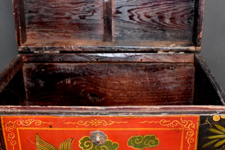 Tibetan Foo Dog Box Hand Painted Box 5 For Sale 10