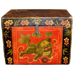 Tibetan Foo Dog Box Hand Painted Box 5