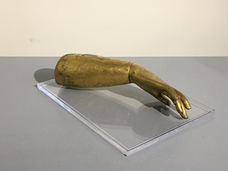Tibetan Gilt Bronze Arm of the Buddha, Early 19th Century In Good Condition For Sale In Austin, TX