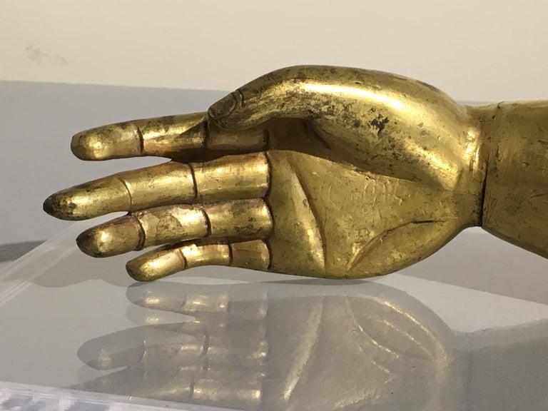 Tibetan Gilt Bronze Arm of the Buddha, Early 19th Century For Sale 1