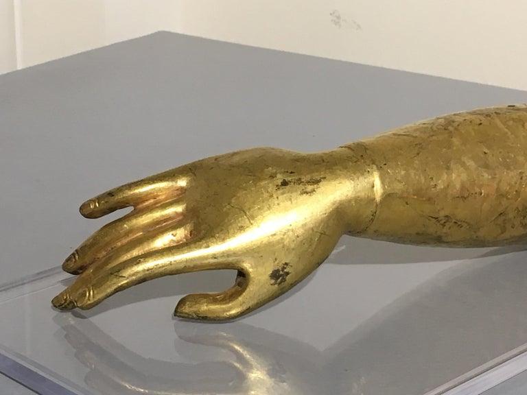 Tibetan Gilt Bronze Arm of the Buddha, Early 19th Century For Sale 2