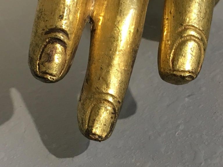 Tibetan Gilt Bronze Arm of the Buddha, Early 19th Century For Sale 3