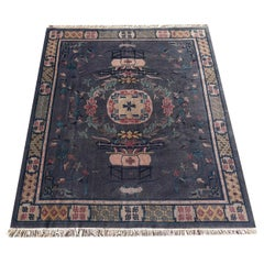 Tibetan Hand Knotted Vintage Traditional Area Rug