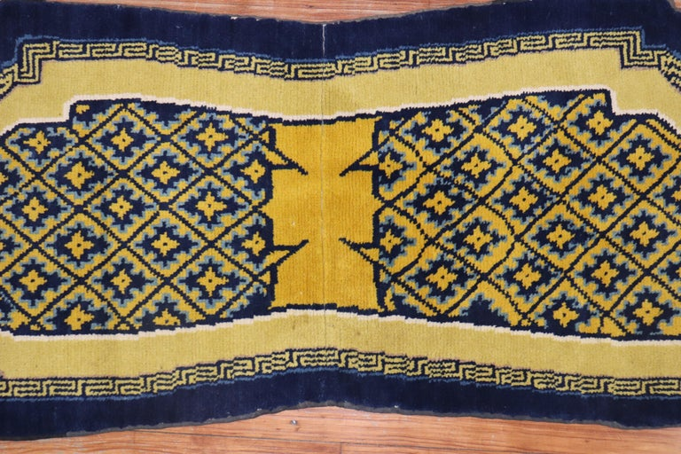 Wool Tibetan Horse Cover Textile Rug, Early 20th Century For Sale