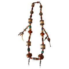 Tibetan Ladakh Necklace with Dzi Beads Published in History of Beads