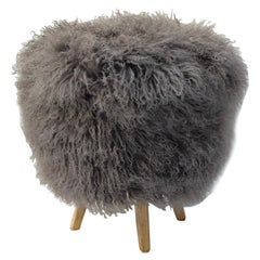 Tibetan Lamb Covered Stool
