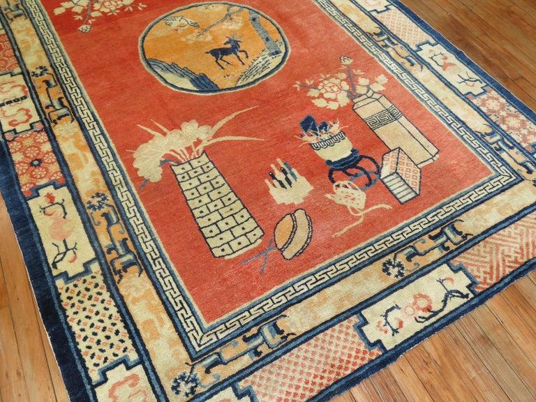 Folk Art Tibetan Pictorial Rug For Sale