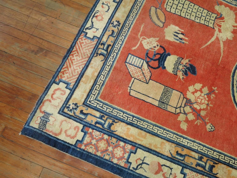 Tibetan Pictorial Rug In Excellent Condition For Sale In New York, NY
