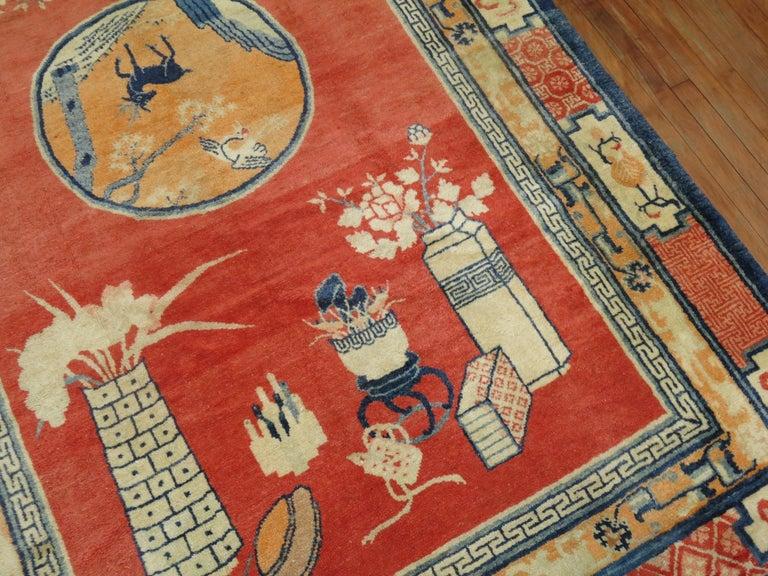 Wool Tibetan Pictorial Rug For Sale