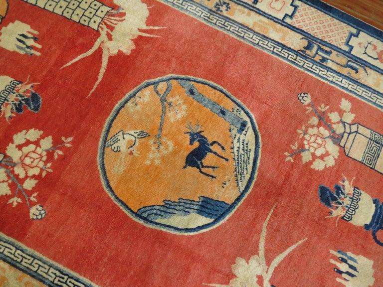 Tibetan Pictorial Rug For Sale 2