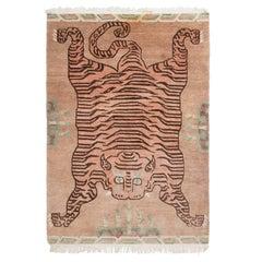 Tibetan Pink Tiger Rug