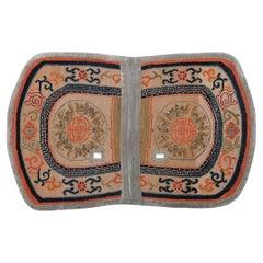 Tibetan Saddle Carpet with Five Blessing Medallions, c. 1900