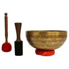 Tibetan Singing Bowl Fully Embossed