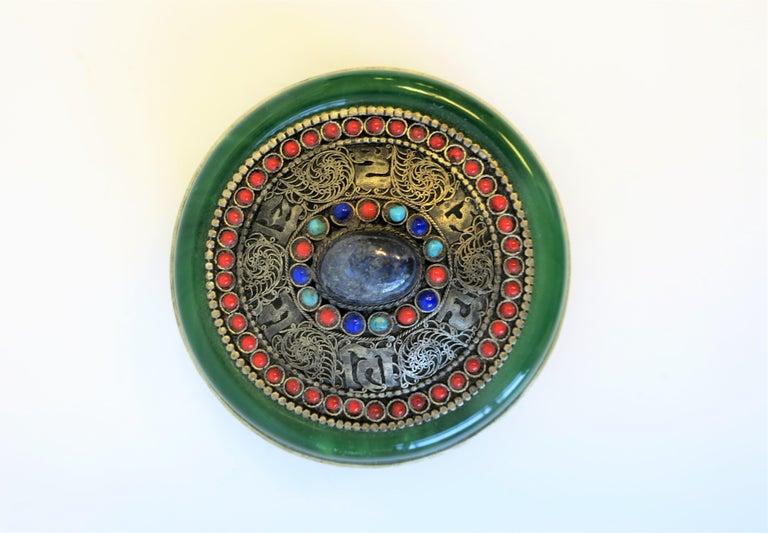 Tibetan Sterling Silver Ceremonial Box For Sale 1
