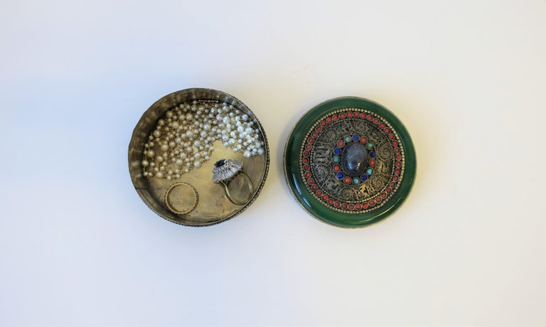 Tibetan Sterling Silver Ceremonial Box For Sale 3