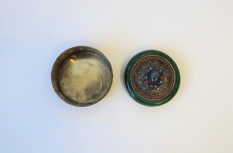 Tibetan Sterling Silver Ceremonial Box For Sale 4