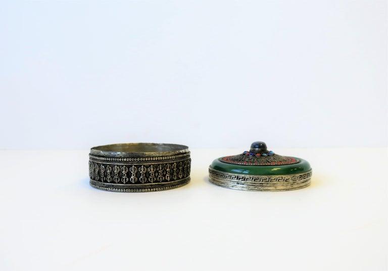 Tibetan Sterling Silver Ceremonial Box For Sale 5