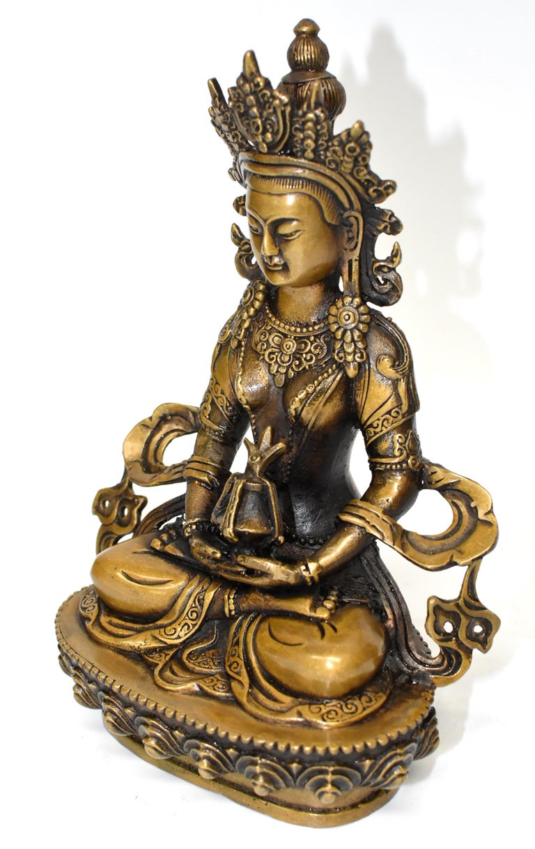 Tibetan Amitayus Buddha In Good Condition For Sale In Somis, CA