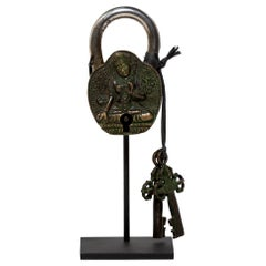 Tibetan Tara Padlock with Dorje Keys